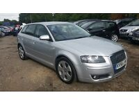 Audi A3 2.0 TDI Sport Sportback 5dr, FSH,HPI CLEAR,WILL COME WITH 12 MONTHS MOT, P/X WELCOME