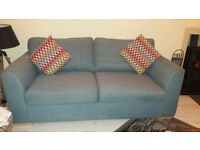 DFS 3+2 seater sofa and footstool