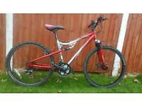Disc Brake/Full Suspension Adult Mountain Bike in Good Condition