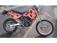 MOTORCYCLE , KTM 600, GOOD CLEAN BIKE, J REG , JULY MOT, 7500 MILES,