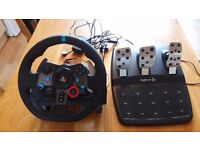 Logitech G29 Steering Wheel and Pedals. Great Condition. Only used once!