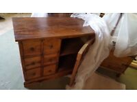 Genuine Myakka Sheesham Indian Wood Drawer Unit/CD Cabinet