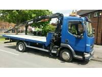 7.5 Ton Flatbed Lorry with Hiab Crane