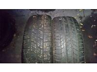 Assorted van tyres