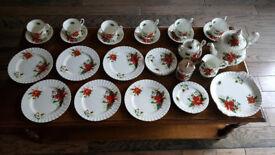 Royal Albert Xmas/Poinsettia Tea Service