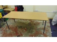 10 Beech Effect Table Desk 150cm x 75cm ideal for school/office workshop/garageListed for charity