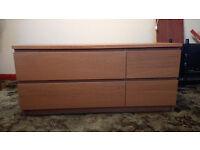 IKEA malm oak chest 4 drawers