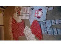 Girls 3-9 month Xmas bundle new