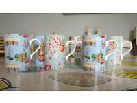 6 Cath Kidston Mugs Assorted