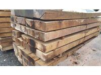 Factory Second Hardwood Garden Sleepers | Untreated | 2400 x 200 x 100