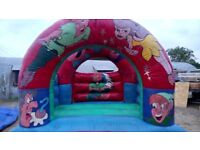 Peter Pan bouncy castle in good working order.