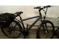 WOOSH ELECTRIC BIKE TWIST AND GO AND PEDAL ASSIST +7 SPEED & 5 MODES