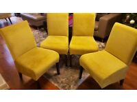 Dining chairs x 4 (SOLD subject to collection)