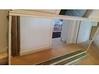 mirror wardrobe doors and rails