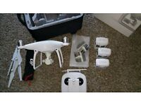 DJI Phantom 4, with 2 extra batteries Practically brand new