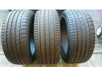 3x 245/45/18 tyres inc continental
