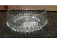 beautifull glass crystal bowl