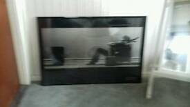 Black framed print anti glare glass man blown away