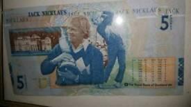Jack nicklaus 5 pound note