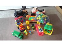 Selection of toys for the younger child