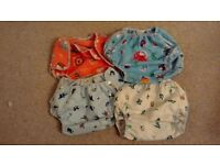 Washable nappy wraps