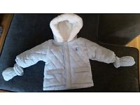 Designer baby boy baby blue winter coat