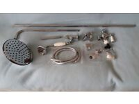"NEW HUDSON REED Traditional Grand Shower Rigid Riser A3602 Chrome 8"" Rose"