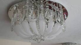 2 x Led Crystal Glass Chandeliers Remote Controlled
