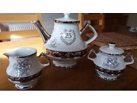 Vintage Gibsons Teapot set for 25th Anniversary