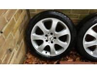 "Original 17"" Mercedes Benz Cygnus Alloy Wheels"