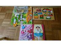Wooden Toddler baby puzzles