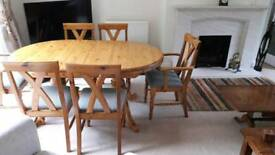 Dining table & chairs by Bradgate
