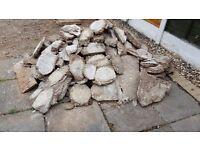 Garden rubble for collection