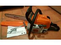 "STIHL MS 171 PETROL 14"" CHAINSAW WITH SPARE NEW CHAIN"