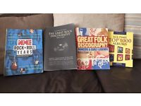 4 MUSIC THEMED BOOKS GOOD CONDITION