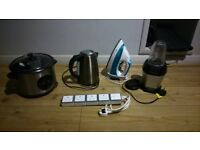 Rice cooker/iron/nutri ninja/kettle/multiplug unit