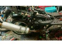 Jonway madness 50cc engine and exhaust