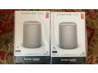 2x Harman Kardon Citation One, Grey, Smart Speakers (Brand New, Boxed & Sealed)