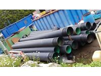 16 x 6m lengths of 300mm dia twinwall pipe