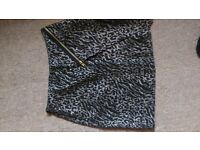 animal print sparkly skirt size 6 collection only