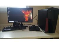 Gaming pc and monitor