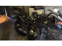 Yamaha yzf-125r breaking all parts available nose cone broke forks bent