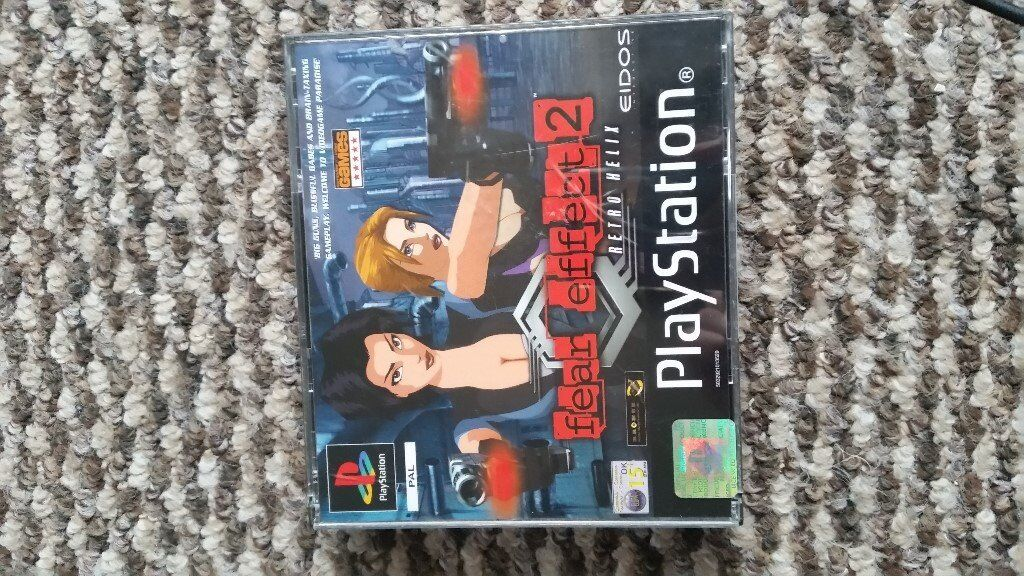 playstation 1 Fear Effect 2 boxed with instructions