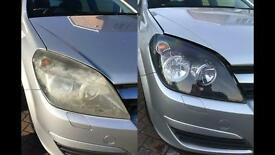 Headlight Restoration. Vauxhall Astra mk4