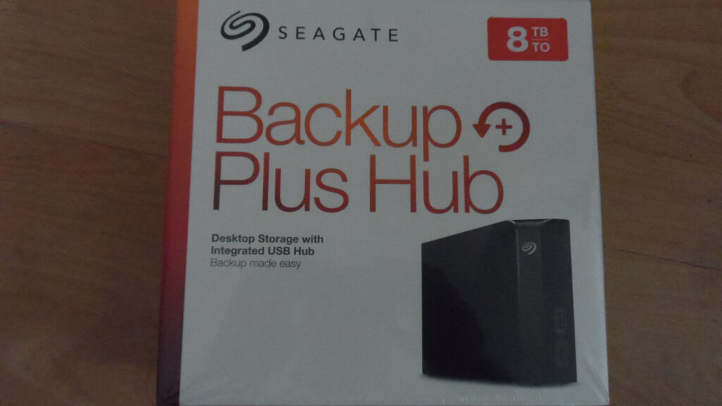 Seagate Hard Drive 8TB Backup Plus Hub.Brand New unopened unused Bought two but only needed one.