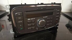 FORD 6000 GALAXY SMAX FOCUS MONDEO AUX CD RADIO UNIT +CODE 2007 to 2011