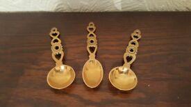 Vintage Brass Welsh Love Spoons