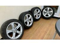 Genuine Original Audi Alloy Wheels with Tyres (Good Condition)