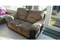 2 seater manual reclining sofa