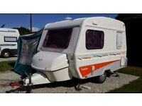 Freedom Jetstream 2 berth Caravan with full awning and breathable winter cover